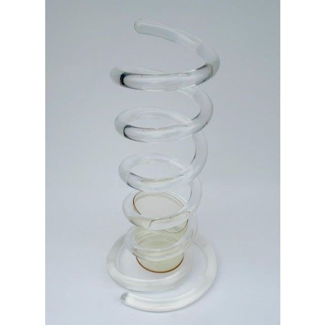 """C.1950s Mid-Century Dorothy Thorpe Tubular """"Infinity,' Swirled Lucite Umbrella Stand, Holder For Sale In West Palm - Image 6 of 13"""