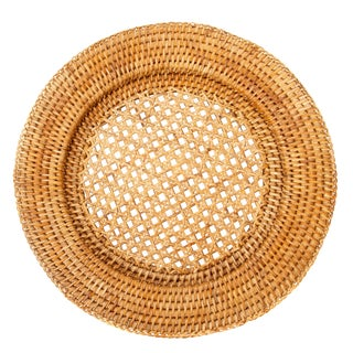 "Artifacts Rattan 13"" Open Weave Charger For Sale"