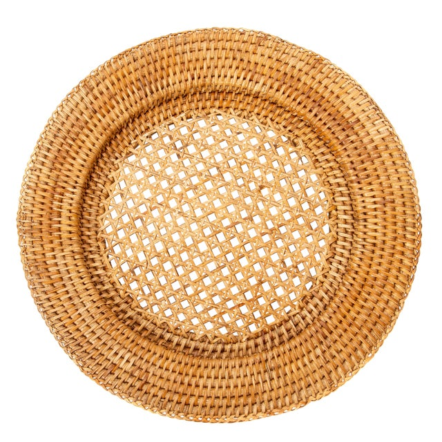 """Artifacts Rattan 13"""" Open Weave Charger For Sale"""