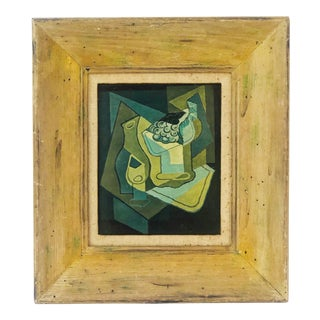 "1940s Vintage Juan Gris ""Grapes"" Still Life Lithograph on Plaster For Sale"
