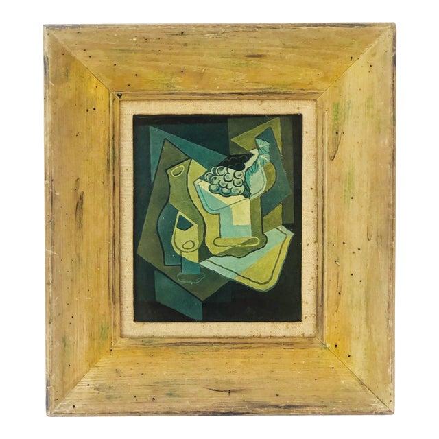 "1940s Vintage Juan Gris ""Grapes"" Still Life Lithograph on Plaster For Sale"