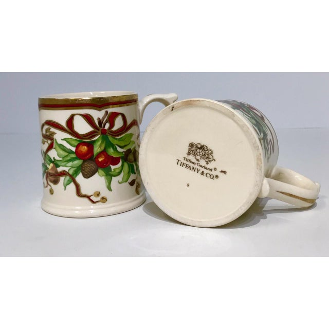 Traditional Christmas Mugs by Tiffany & Co - A Pair For Sale - Image 3 of 13