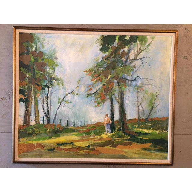 Oil Paint Spring Pasture by R. Vick For Sale - Image 7 of 7