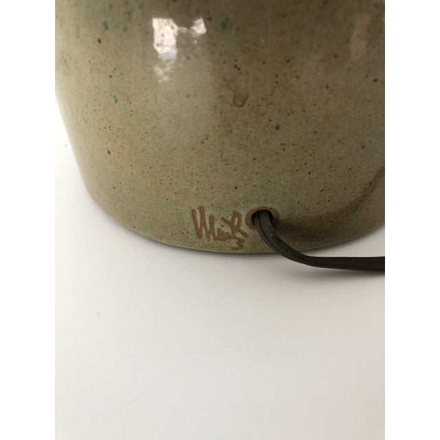 Midcentury Signed Martz Ceramic/Stoneware Table Lamp For Sale In New York - Image 6 of 8