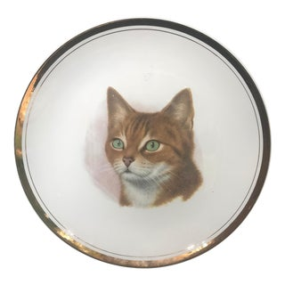 1960s Mid-Century Modern Animal Cat Plate Wall Art For Sale