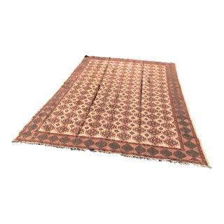 "Vintage Handmade Soumak Carpet - 9'10"" x 6'11"" For Sale"