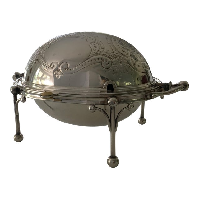 William Hutton & Sons Domed Silver Warming Dish - Image 1 of 10