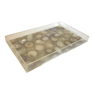 Natural Agate Tray By Marjorie Skouras