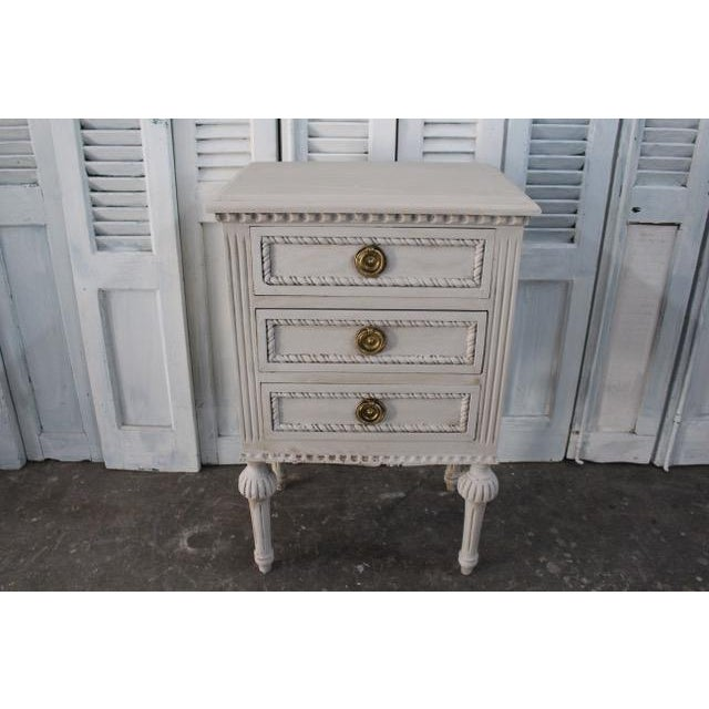 20th Century Swedish Gustavian Style Nightstands - A Pair For Sale - Image 4 of 13