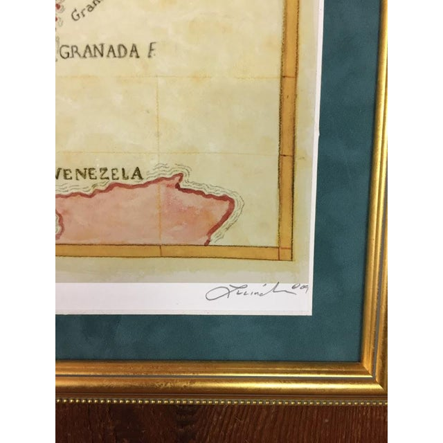 Watercolor Painting of Caribbean West Indies Map - Image 6 of 7