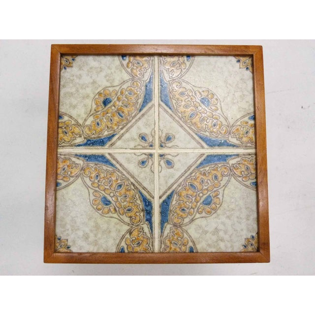 Monterey-Style Spanish Tile Side Table - Image 4 of 6