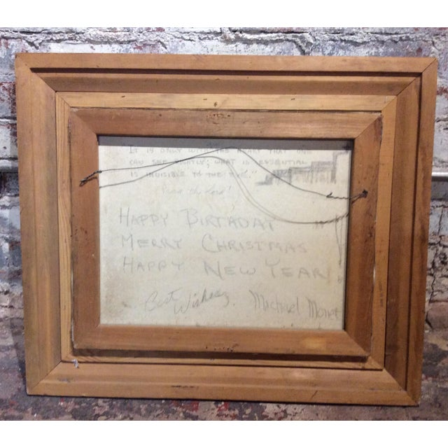 Antique Framed Impressionism Signed Painting For Sale In Los Angeles - Image 6 of 11