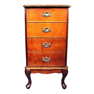 Queen Anne Style Filing Cabinet Nightstand Chest of Drawers For Sale