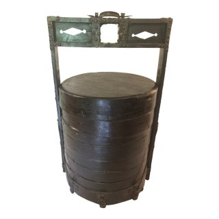 1920s Chinese Iron/Wood Food Box For Sale