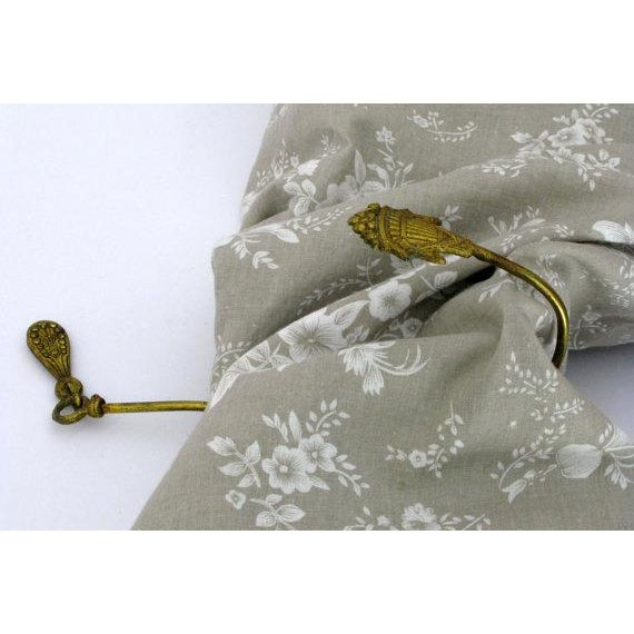 French Gilt Art Deco Curtain Tie Back For Sale - Image 5 of 5