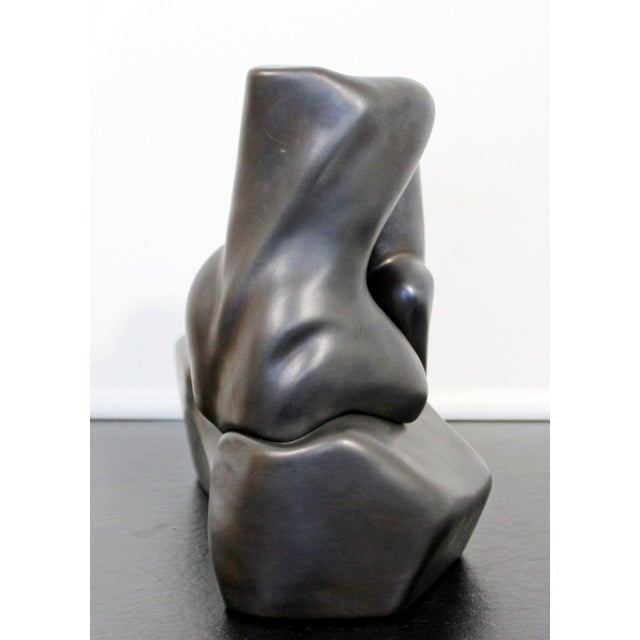 1990s Contemporary Signed Abstract Table Sculpture F. Calderon 1991 10/50 For Sale - Image 5 of 8