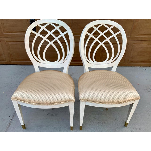 1990's Henredon Side Chairs - Set of 2 For Sale - Image 10 of 13