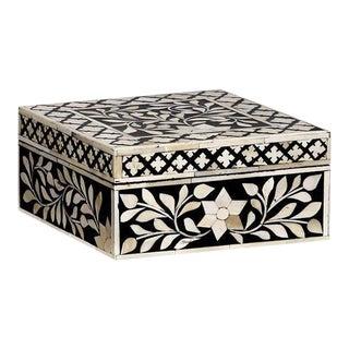 Casa Cosima Maison Square Box in Black & White For Sale