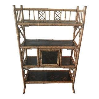 19th Century Japanese Bamboo Etagere For Sale