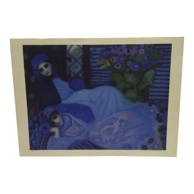 Limited Edition Signed Print Ghosts at Night Lucelle Stoisicord For Sale