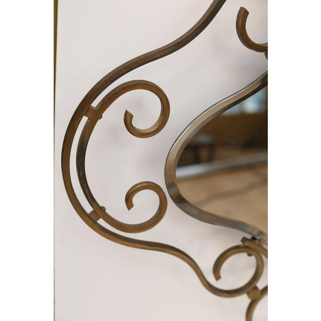 French French Vintage Brass Frame Mirror For Sale - Image 3 of 10