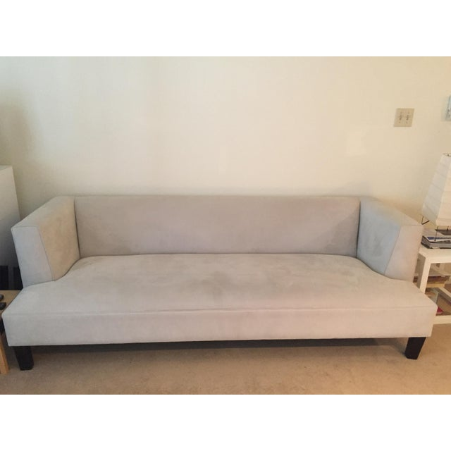 Contemporary Room & Board Off-White Upholstered Couch For Sale In Denver - Image 6 of 6