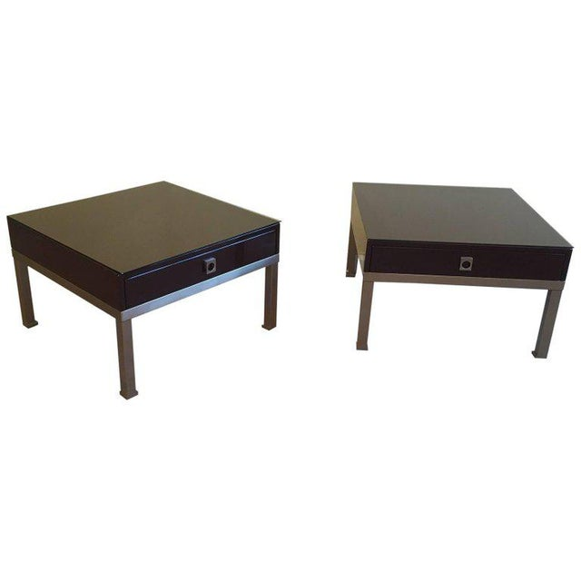 1970s French Pair of Side Tables by Guy Lefèvre for Maison Jansen - Image 11 of 11