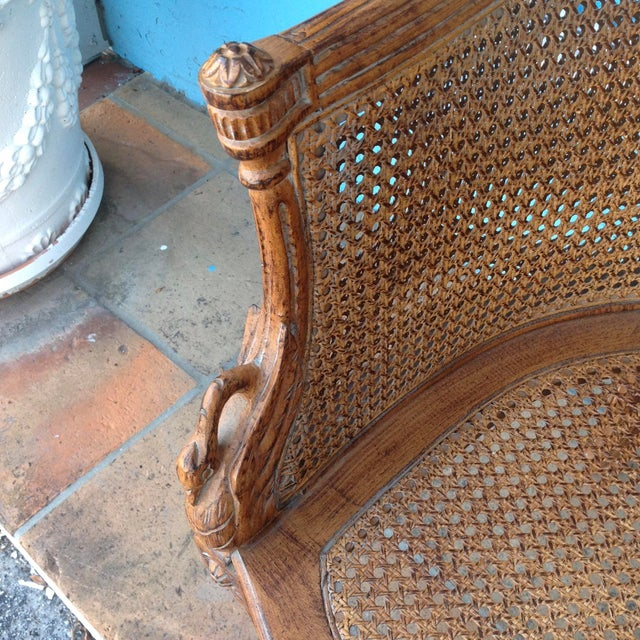Brown Pair of Louis XVI Style Armchairs For Sale - Image 8 of 13