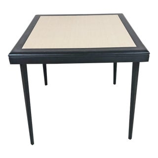 Mid Century Modern Black Wood Folding Table by Stakmore