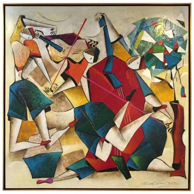 "Original David Schluss Painting ""Fantasia of Music"" For Sale"