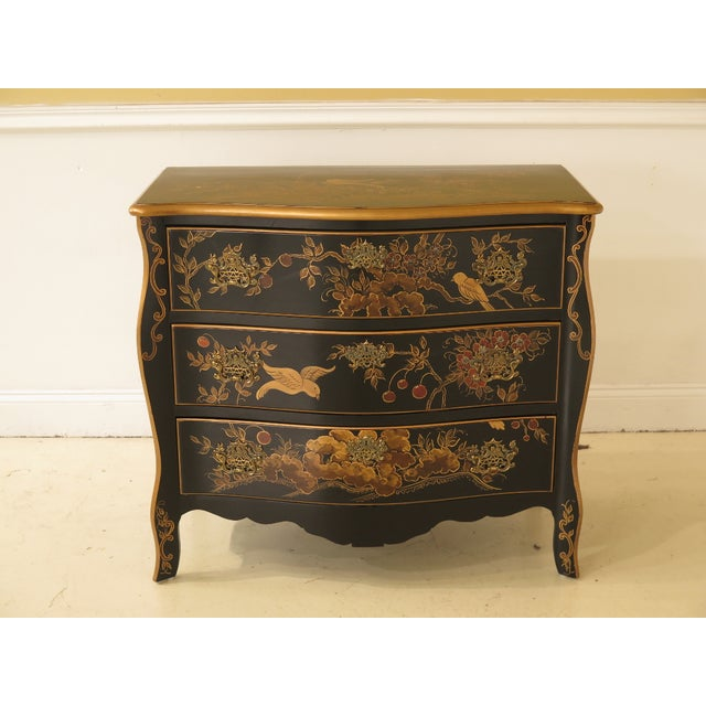 1990s Vintage Chinoiserie Decorated French Inspired Commode For Sale - Image 12 of 12