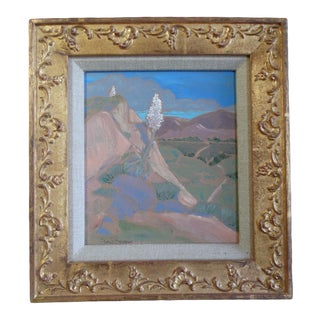 1980 Oil Painting on Board of Desert Mountain-Scape by Don Burgess For Sale
