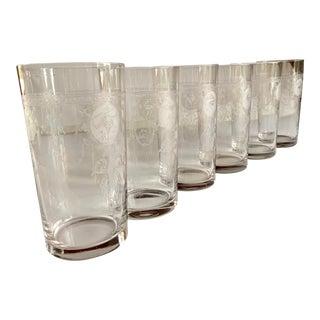 1890s Art Nouveau Drinking Glasses Set For Sale
