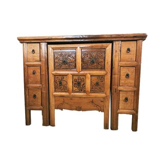 """Solid Wood Cantonese Desk W/Chair 31.5"""" H by 42"""" W For Sale"""