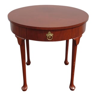 Vintage French Country Side Table Mahogany Color by Baker Furniture Co. For Sale