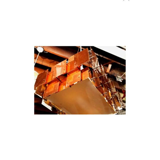 Mid 20th Century Robert Sonneman Copper Chandelier For Sale - Image 5 of 8