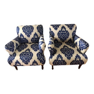 Modern Pottery Barn Hadley Arm Chairs- A Pair For Sale