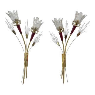 Mid-Century Modern Maison Arlus Sconces - a Pair For Sale