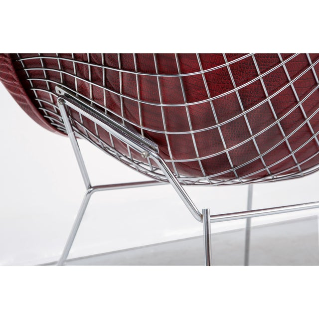 Red Diamond Bertoia Chair For Sale - Image 8 of 11