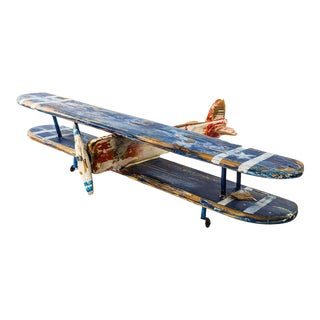 Vintage Handcrafted Model Airplane For Sale