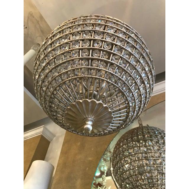 Visual Comfort Visual Comfort Renwick Crystal Sphere Pendant Light For Sale - Image 4 of 6