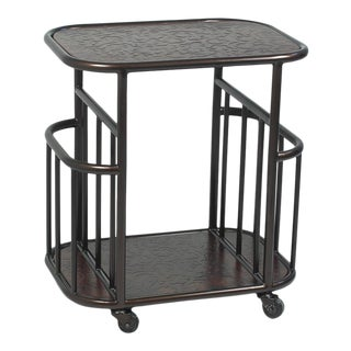 Sarried Ltd Mobile Magazine Side Table For Sale