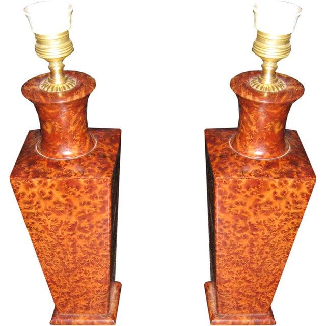 Deco Italian Lamps - a Pair - Image 1 of 4