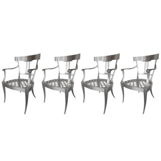 Splendid Set of Three Klismos Chairs For Sale