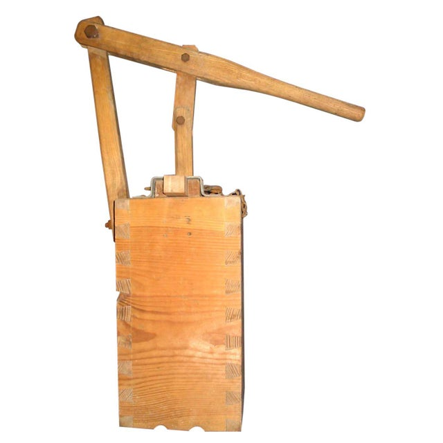 1900 Rustic Pine Laundry Press - Image 1 of 3