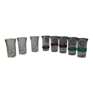 Vintage 1940s Shot Glasses - Set of 8 For Sale