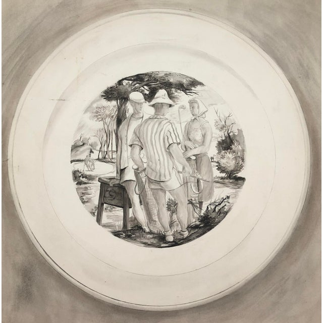 1940 9th Tee Golf Painting by William Palmer For Sale - Image 6 of 6
