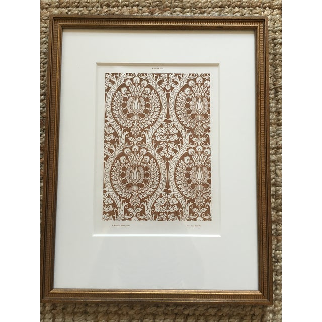 Framed Book Plate Pattern Prints - Set of 6 For Sale In Philadelphia - Image 6 of 10