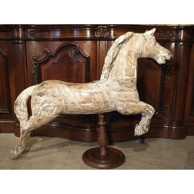 Antique Whitewashed Carousel Horse From Spain, Circa 1915 For Sale - Image 13 of 13