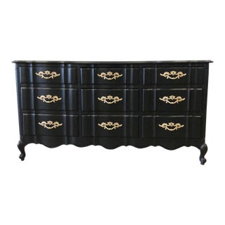 Black Lacquer French Provincial Dresser